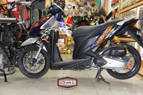 Honda Click 125i do don gian nhung day chat choi