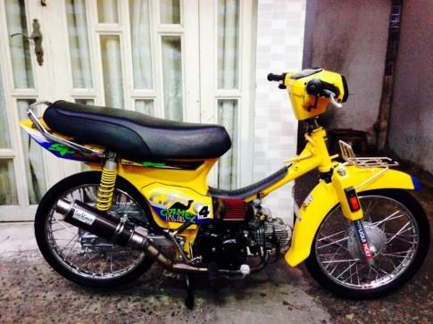 Honda Dream phien ban day noi cong