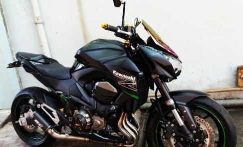 Kawasaki Z800 trong ban do nhieu do choi hang hieu cua biker Can Tho