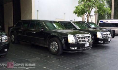 Limousine The Beast cua Tong thong My xuat hien tai Ha Noi