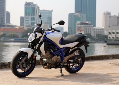 Suzuki Gladius 650 tren pho Sai Gon
