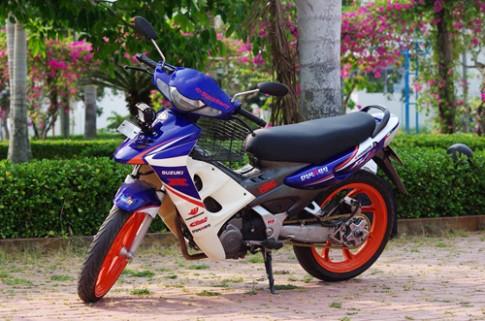 Tho Can Tho 'trang diem' cho Suzuki FX 125 doi dau
