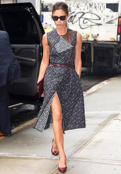 Victoria Beckham 'catwalk' tren duong pho New York