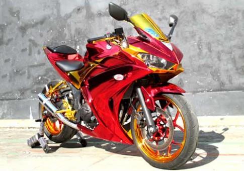 Yamaha R25 bọc crôm phong cách 'Iron Man'