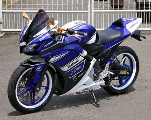 Yamaha V-ixion lot xac theo phong cach R25
