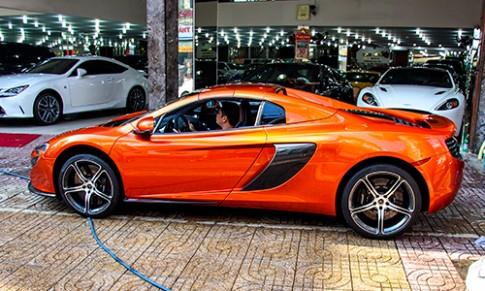 Chi tiet McLaren 650S Spider o Sai Gon