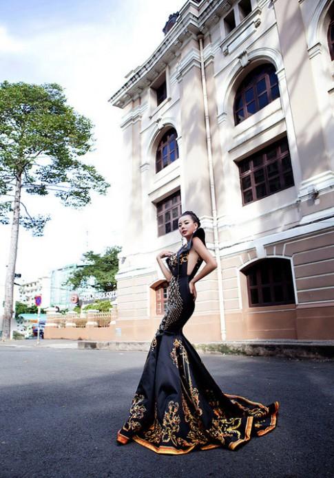 Lai Thanh Huong thang the, lot Top 12 Nguoi dep moi tai Miss All Nations