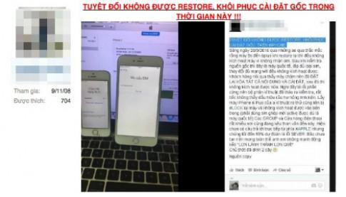 Nhiều iPhone hàng xách tay ở Việt Nam bị biến thành 'cục gạch'
