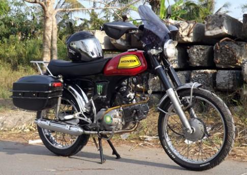 Honda 72 tan trang phong cach touring o Dong Thap