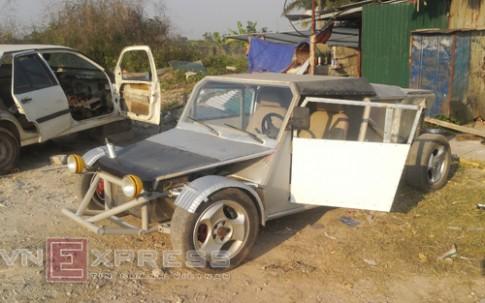 Người dân Hà Nội tự chế xe hơi 60 triệu đồng