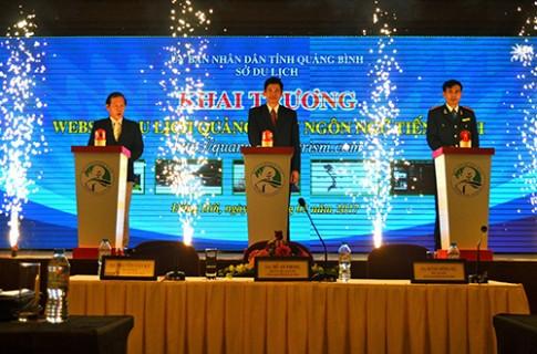 Quang Binh ra mat trang web du lich bang tieng Anh