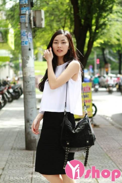 13 mẫu áo sơ mi nữ croptop dáng rộng đẹp cô nàng gầy che khuyết điểm hè 2017