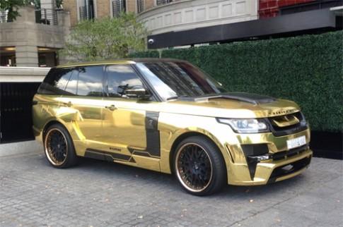 Range Rover dát vàng của triệu phú Arab