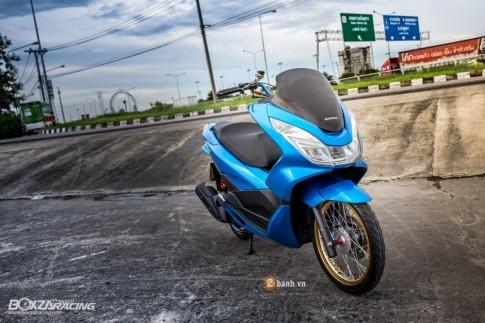 Honda PCX 150 day te tai voi phien ban Blue Limited