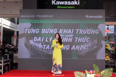 Kawasaki Quang Phuong tung bung khai truong Showroom tai Long An