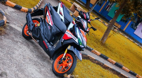Mini Scooter Click 125i chat choi voi phong cach Repsol MM93