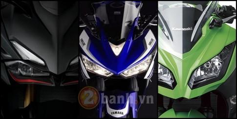 So sanh Honda CBR250RR, Yamaha R25 va Kawasaki Ninja 250