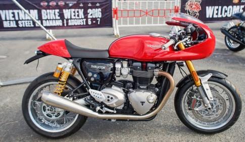 Triumph Thruxton R dam da trong ban do Cafe Racer chinh hang