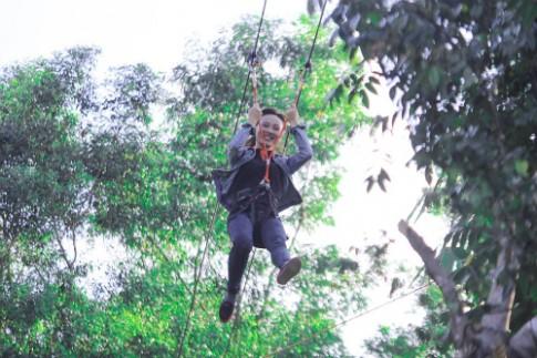 Da Nang co duong truot zipline dau tien dai 300 m