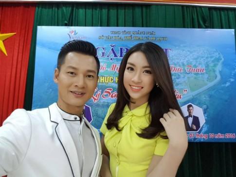 Hoa hau My Linh tham gia clip quang ba du lich Ly Son