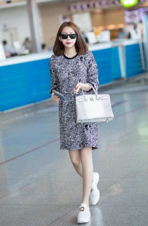 Hoa hậu Hải Dương sành điệu với BST túi Hermès Birkins
