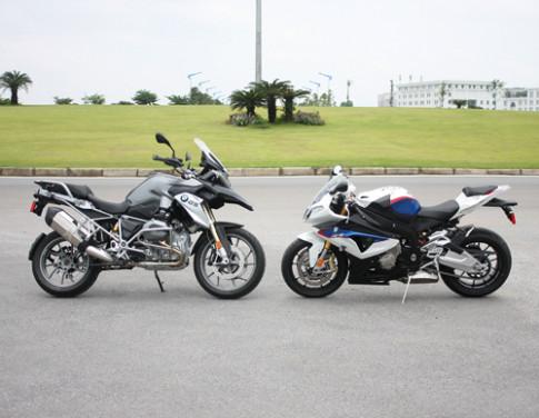 Cap doi xe khung BMW khoe sac tai Ha Noi
