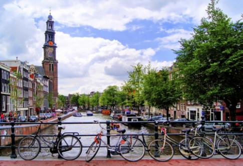 He thong giao thong dang mo uoc o Amsterdam