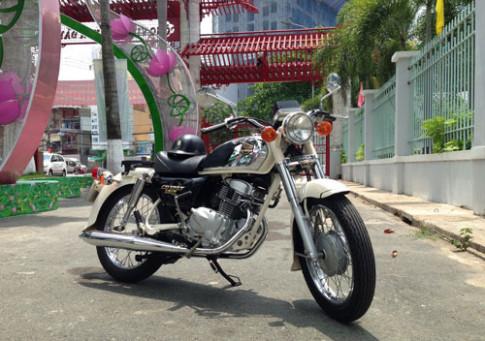 Honda Benly CD125T mau trang o Sai Gon