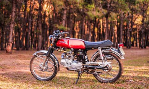 Honda SS50 do pha cach cua biker Gia Lai