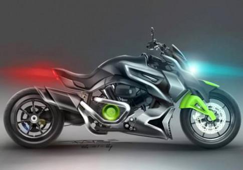 Hyosung ST7 Cruiser concept - xe Han tham vong dau Ducati