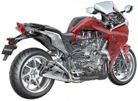 Moto Anh dung dong co Honda VFR1200