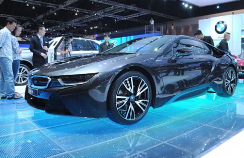 Them anh BMW i8 tai Bangkok Motor Show 2014