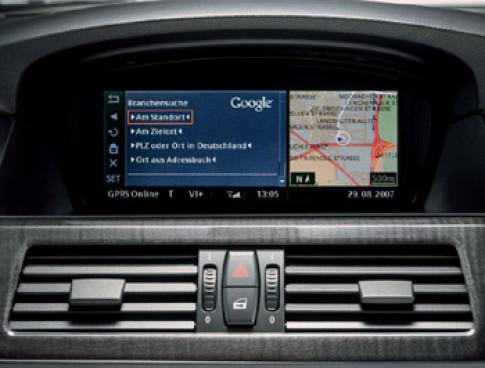 Tìm kiếm bằng Google trên xe BMW