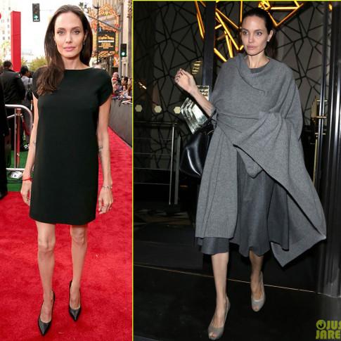 Angelina Jolie tang can, mac sanh dieu tro lai khien fan mung khon xiet