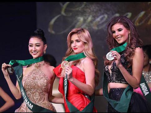 Chiếc váy dạ hội của Hà Thu lọt top 3 trang phục đẹp nhất của HH Trái đất