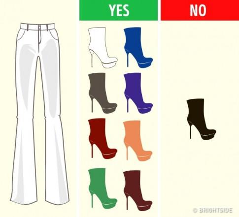 Chọn sai màu giày, đồ sang chảnh đến mấy cũng bị mất giá