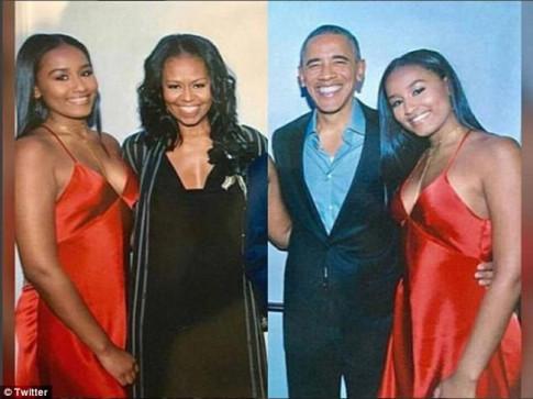Con gai ut cua TT Obama gay xon xao khi mac sexy trong tiec sinh nhat 16 tuoi