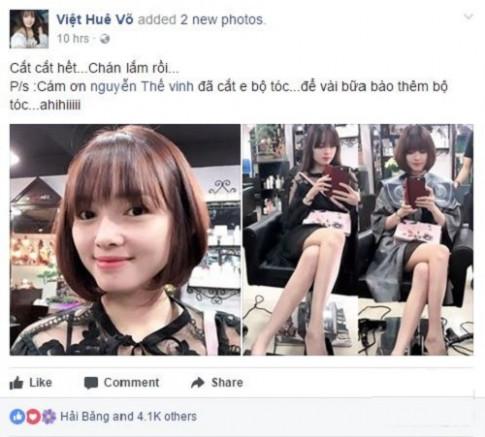 Đến Việt Huê cũng không cưỡng nổi hot trend tóc bob đang càn quét khắp mạng xã hội