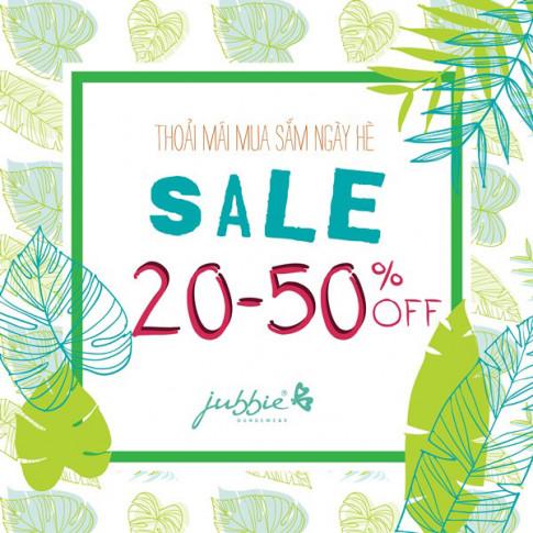 Jubbie ưu đãi 20-50% cho chị em thoải mái mua sắm đồ mặc nhà