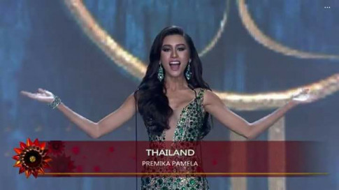 Nguoi dep Thai Lan vap te ngay tren san khau Miss Grand International 2017