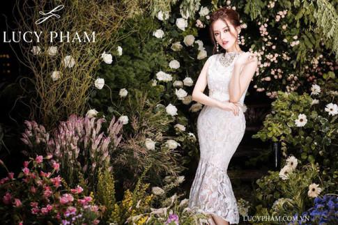 """Nu hoang lookbook"" Dang Khanh Linh dep diu dang trong BST thu dong cua LucyPham"