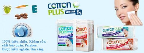 Phát 'sốt' với bông tẩy trang cao cấp Cotton Plus 2 trong 1 từ Ý