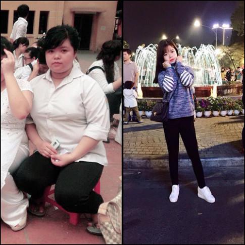 Qúa trình giảm 40kg vất vả khắc nghiệt của nàng béo 9x hóa hot girl xinh đẹp