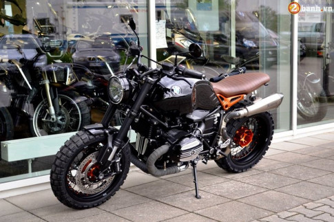 BMW R Nine T hut hon trong ban do Scrambler tu Martin Edition