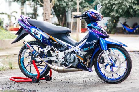 Chiec Satria 120 do an tuong cua biker Lam Dong