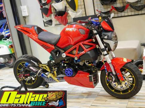 Ducati Monster do day an tuong trong phien ban minibike