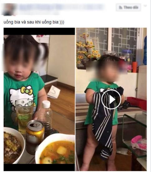 """Me 9x ngo ngac khi bi dan mang """"nem da"""" vi khoe clip con gai uong bia say bi ti"""