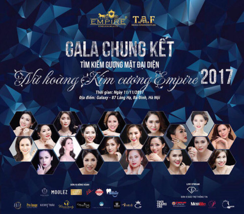 "Tim kiem guong mat dai dien thuong hieu ""Nu hoang kim cuong Empire 2017"""