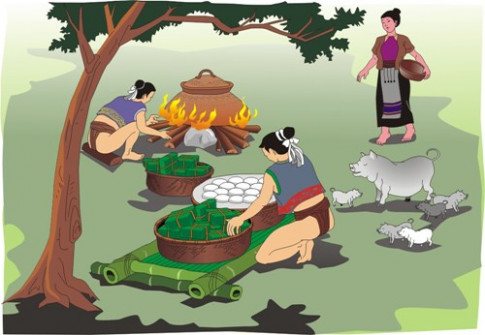 Truyen co tich cho be: Su tich banh chung va banh day