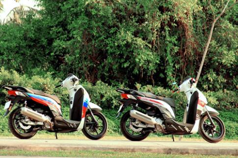Bo doi Honda SH300i len dan ao the thao